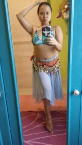 I could finally fit into my bellydance costume again!