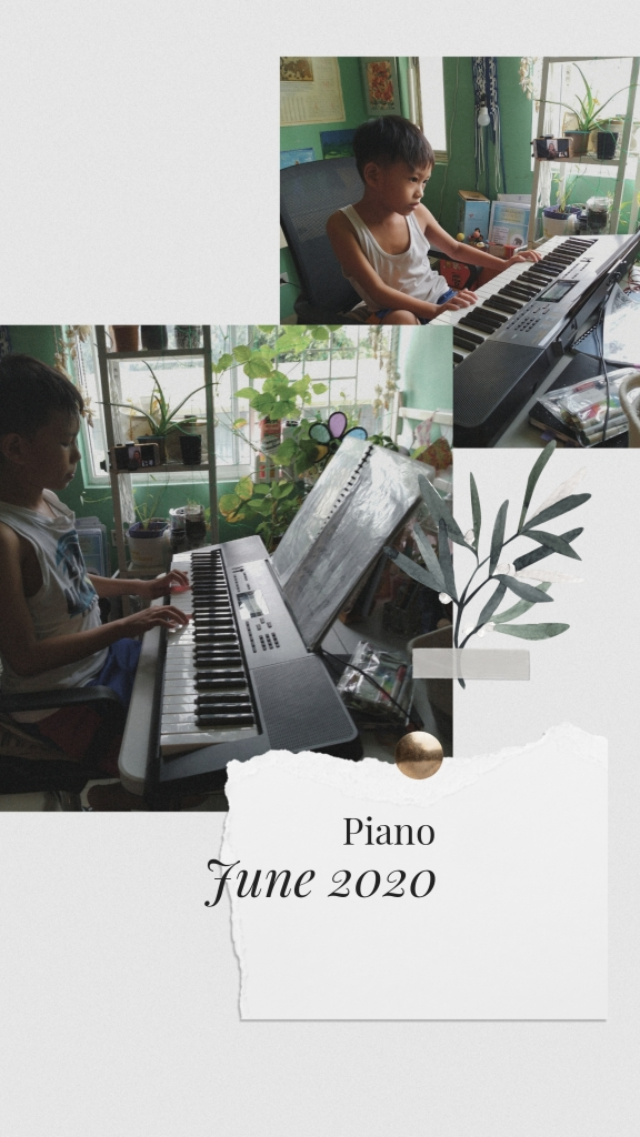 homeschooling piano lesson