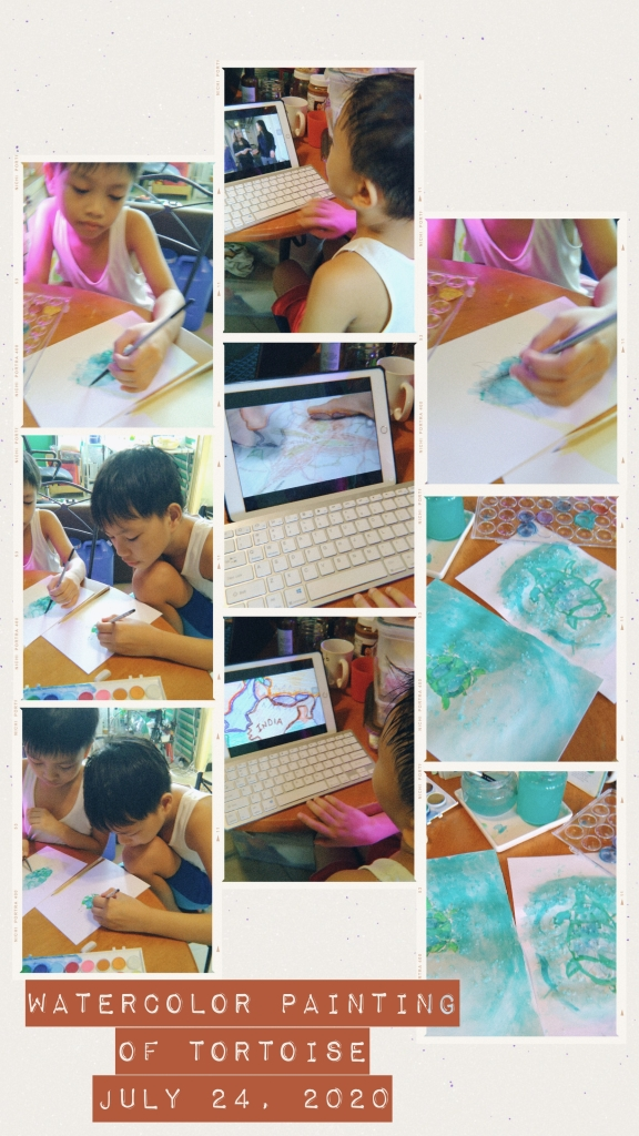 watercolor painting homeschooling