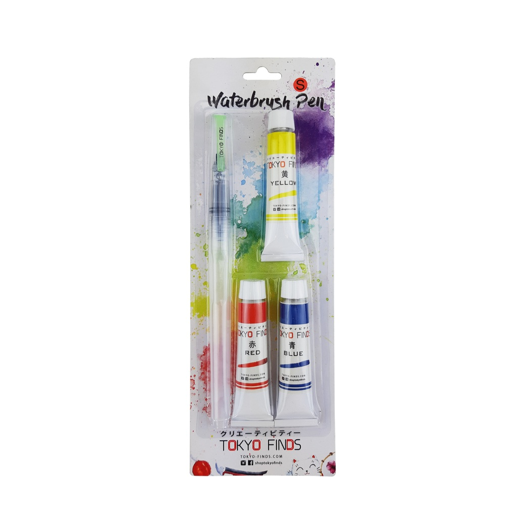 tokyo finds watercolor tubes in primary colors